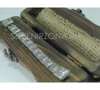 Серебряные перекидные четки 925 пробы (Роза ветров)