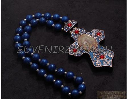 Купить четки в машину «Крест синий»