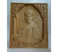 Икона Николай Чудотворец  из ясеня
