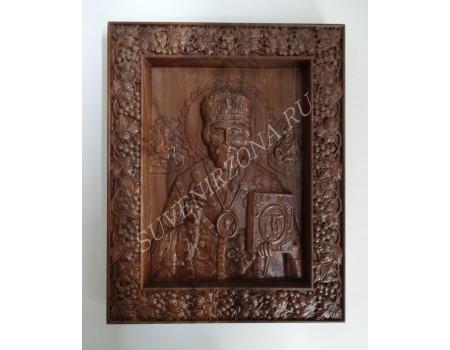 Икона Николай Чудотворец - черный орех