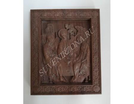 Икона Святая Троица - черный орех