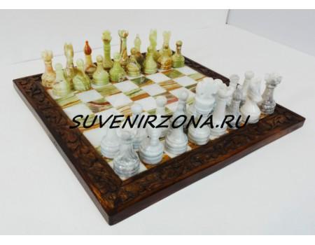 Купить шахматы из камня «Истуканы»