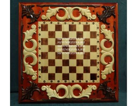 """Купить нарды-шахматы-шашки """"Вензеля"""" 3 в 1"""