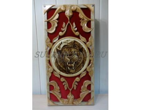 Купить нарды резные под бархат «Пантера»