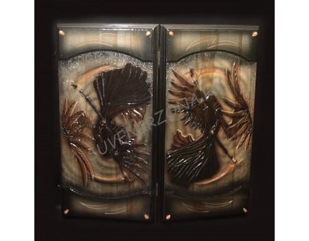 Купить нарды ручной работы «Темный ангел»