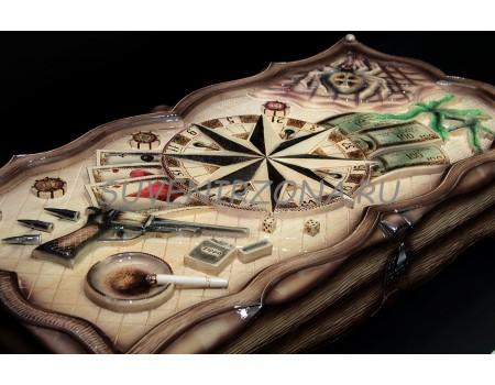 Купить нарды ручной работы «Объятия смерти»