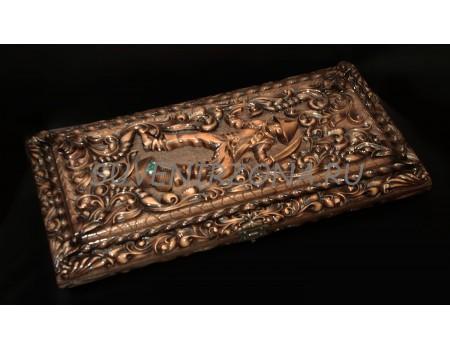 Купить нарды ручной работы «Королевский узор» из кедра