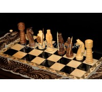 Набор нарды и шахматы ручной работы «Преданный Самурай»