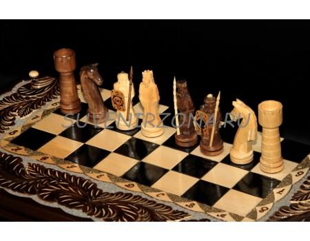 Купить нарды и шахматы ручной работы «Преданный Самурай»