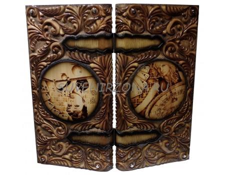 Купить нарды ручной работы «Роковая женщина»