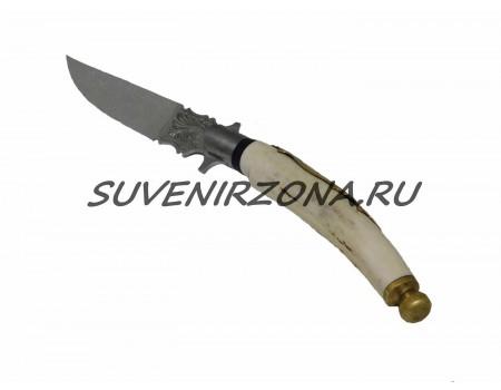 Купить нож ручной работы «Из рога»