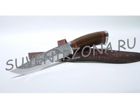 Купить нож с художественной гравировкой «Русский лес»