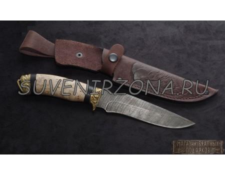 Купить нож из дамасской стали «Волк»