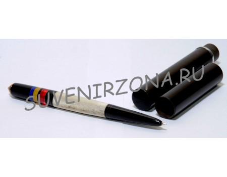 Купить шариковую ручку «Дакка» в чехле-футляре  (эбонит, латунь, рог лося, оргстекло)