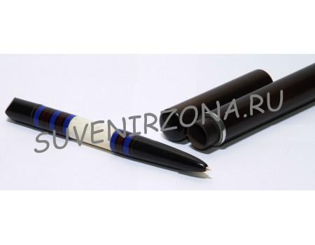 Купить шариковую ручку «Манама» в чехле-футляре  (эбонит, латунь, рог лося, оргстекло)