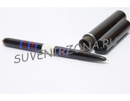 Купить шариковую ручку «Лондон» в чехле-футляре  (эбонит, латунь, рог лося, оргстекло)
