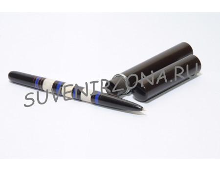 Купить шариковую ручку «Каракас» в чехле-футляре (эбонит, латунь, рог лося, оргстекло)