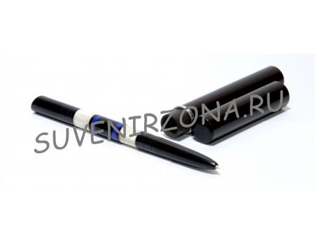 Купить шариковую ручку «Бисау» в чехле-футляре  (эбонит, латунь, рог лося, оргстекло)
