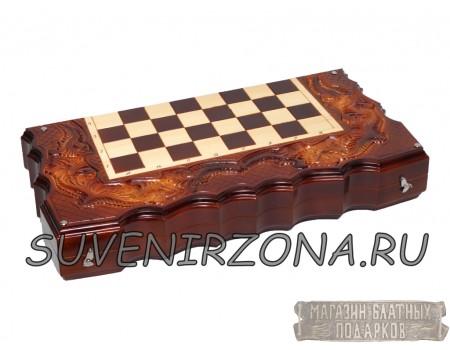 Купить нарды-шахматы-шашки ручной работы «Классика»