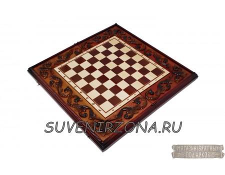 Купить резные шахматы-нарды «Ледовое побоище 2»