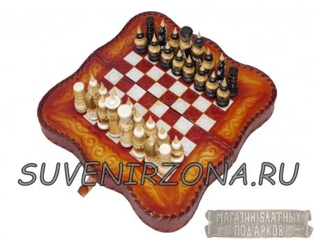"Купить кожаные шахматы-нарды ""Мини"""