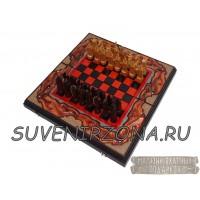"""Шахматы-нарды 3в1 """"RED"""""""