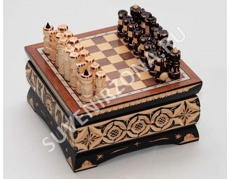 Купить шахматы ручной работы «Миниатюрные»