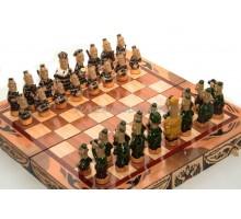 Шахматные фигуры из хлебного мякиша «Зеки против ментов»
