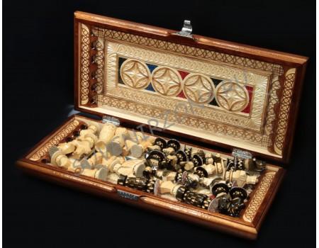 Купить Нарды-Шахматы ручной работы «Искусство»