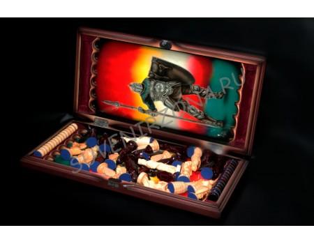 Купить шахматы нарды ручной работы «Посвящение в рыцари»