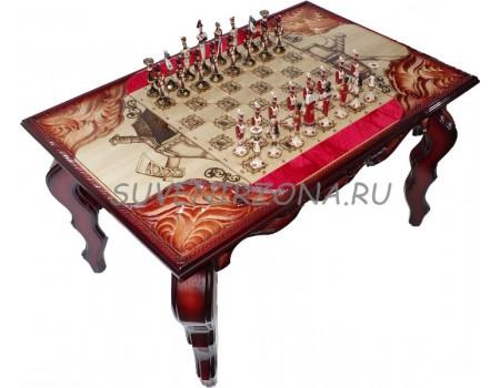 Купить шахматный стол ручной работы «Рыцарь»