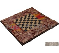 Шахматы-нарды ручной работы «Джон Сильвер»