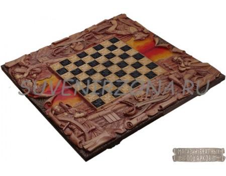 Купить шахматы-нарды ручной работы «Джон Сильвер»