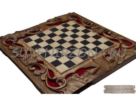Купить шахматы-нарды ручной работы «Классика»