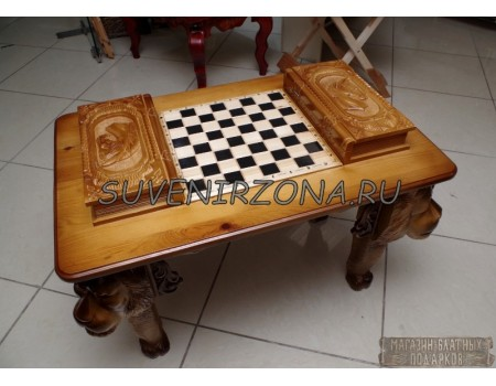 Купить игровой стол Шахматы-Нарды-Шашки «Львы»